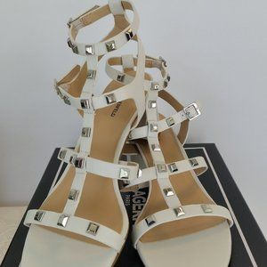 Karl Lagerfeld Paris Honore Studded Leather sandal